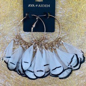 Ava & Aiden Gold Hoop Dangle Earrings